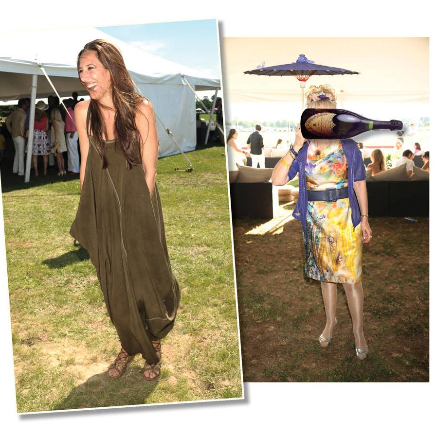 Do: Wear long flowy dresses that suggest the wind on the grasslands, as seen here on Gabby Karan.Don't: Some suggest that the game began with Genghis Khan, who used the contests as both training exercise for his horsemen and entertainment for his troops. That doesn't mean you should dress up as Yum-Yum in The Mikado.