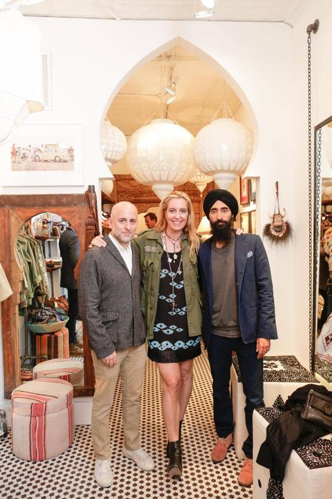 Stephanie von Watzdorf, Steven Alan and Waris Ahluwalia at her store opening FIGUE on Elizabeth Street