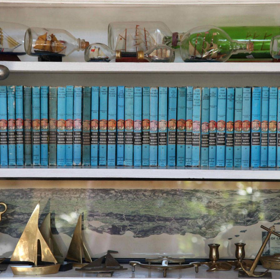 The hardback Hardy Boys series is a favorite of the 40-something male customers who visit the gallery.