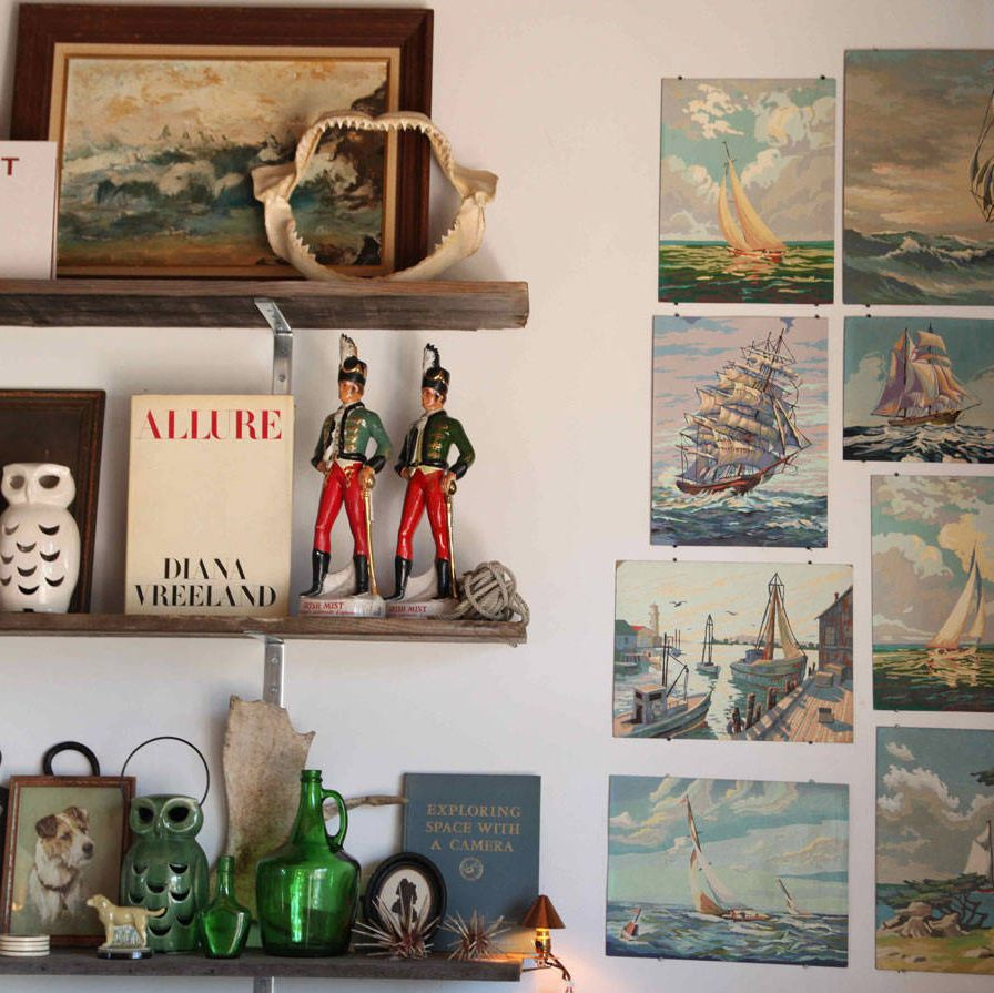 The shop features a curated collection of home goods and vintage finds.