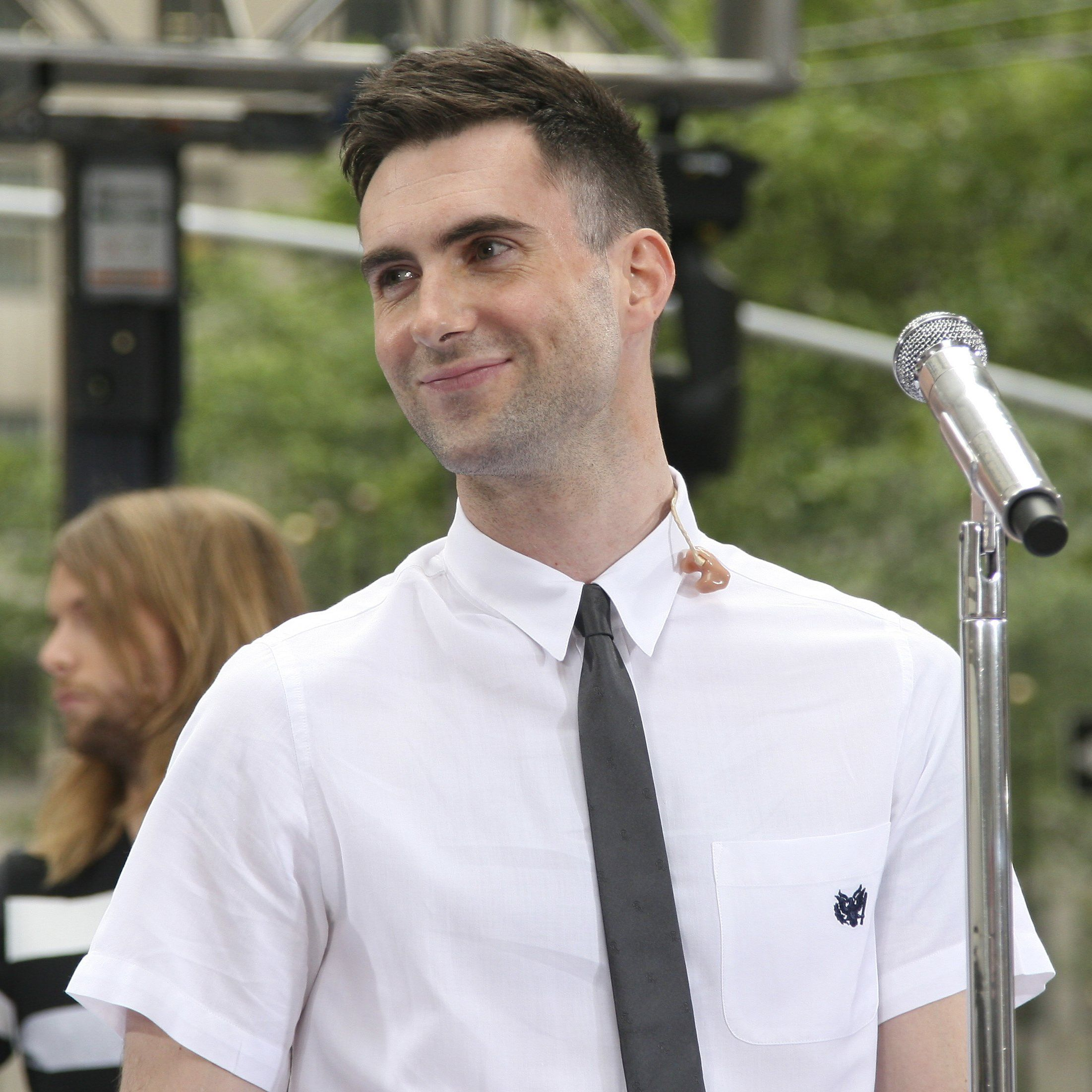 """Adam's dad, Fred, a lawyer turned retailer, founded the L.A. clothing store M. Frederic with his sister, Mardi (the """"M"""" of the title)—a background which may explain why his son's Mr. Rogers-meets-grunge clothing line for KMart is the big-box store's most successful celebrity line ever. Adam went to the Brentwood School, whose tuition currently hovers around $35,000 (seems like he should have had change enough for a payphone), with the actor Jonah Hill and four bandmates who, with the addition of a crucial fifth, would later became Maroon 5."""