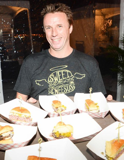 While not as formal as a sit-down dinner, the Blue Moon Burger Bash is always one of the most popular events of the festival. Here, Chef Marc Murphy of the just-opened Kingside in Midtown Manhattan's Viceroy Hotel, shows off his mac-and-cheese-topped Sweet Cheesus burgers.They weren't enough to top the winning entries from B&B's Josh Capon and Guy Fieri, the butt of seemingly all Food Network jokes not aimed at Paula Deen.