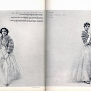 In July 1954, T&C called upon Mrs. Michael T. Canfield (now Lee Radziwill) and Mrs. John F. Kennedy (better known as Jackie) to model the season's finest pelts. They wore, respectively, a Norwegian blue fox bolero and an Emba Cerulean mutation mink stole, whatever that is.