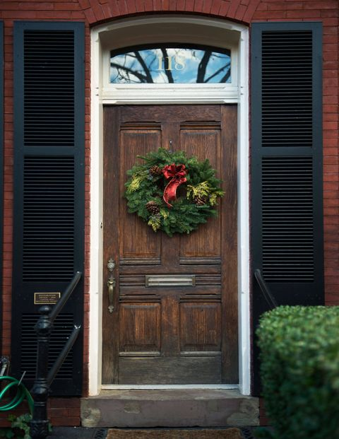 Because I travel to family during the holidays, I prefer a refined take on holiday décor. I place a beautiful wreath outside the door to welcome guests and inside I like to use tightly gathered cut red amaryllis in simple glass vessels. I place them in arrangements with small unadorned pine trees in clay pots with pine cones spread around on any available table top.  A roaring fire and a bottle of chilled champagne complete the welcoming and chic holiday spirit!Sandra Nunnerly