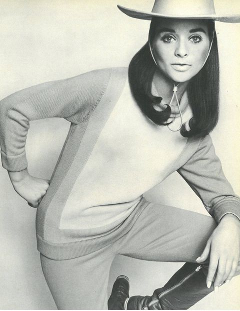 "In Town & Country February 1967, we tell readers how to wear ""the cools,"" as in a ""cool way to dress for a city-country life."" Here, we shop out model Olivia Robinet's casual combo, perfect for an easy holiday look."
