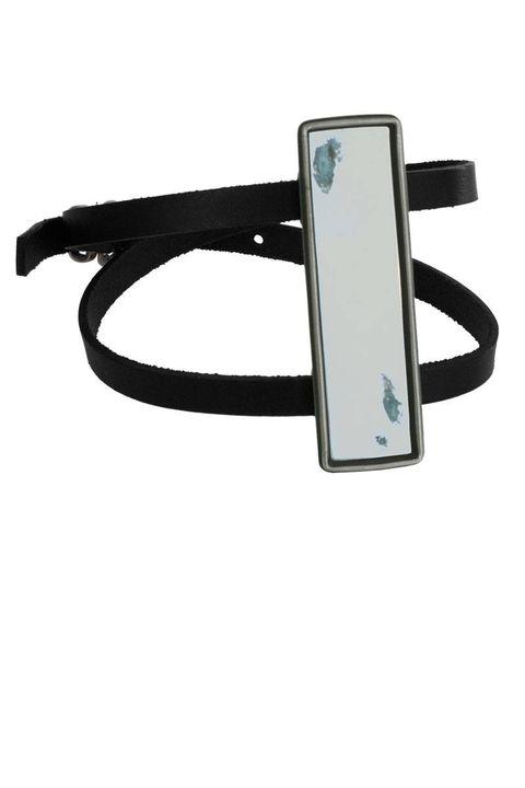 """<p>Anne Demeulemeester Antique Mirror Bracelet, $609; <a href=""""http://www.cahierdexercices.com/shop/antique-mirror-bracelet"""" target=""""_blank"""">cahierdexercices.com</a></p>"""