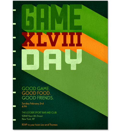 """Game Day,"" $4 for 25 people; postmark.com"