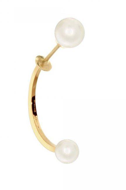 Delfina Delettrez Double Pearl Piercing Earring, $474; delfinadelettrez.it