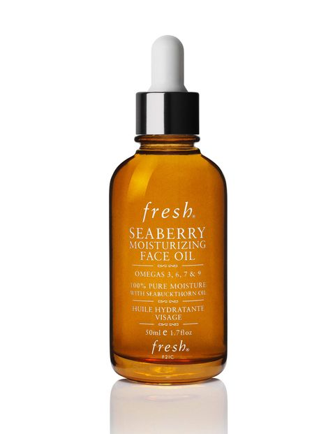 """Fresh's Seaberry oil is a game changer in the cold winter months. I slather it on my face at night and wake up with moisturized and glowing skin. Plus, it doesn't make me break out!"" -Micaela English, Web Editor"