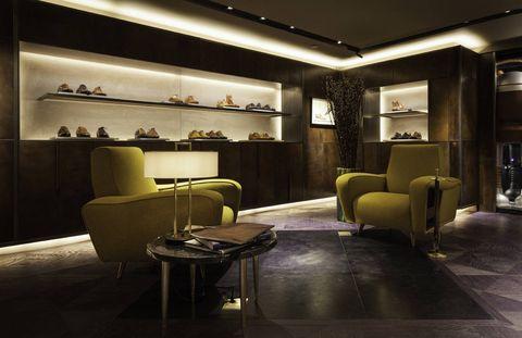 Lighting, Interior design, Floor, Room, Furniture, Ceiling, Flooring, Interior design, Couch, Shelf,