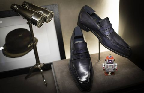 Fashion, Leather, Boot, High heels, Dress shoe, Still life photography, Silver, Buckle, Synthetic rubber,