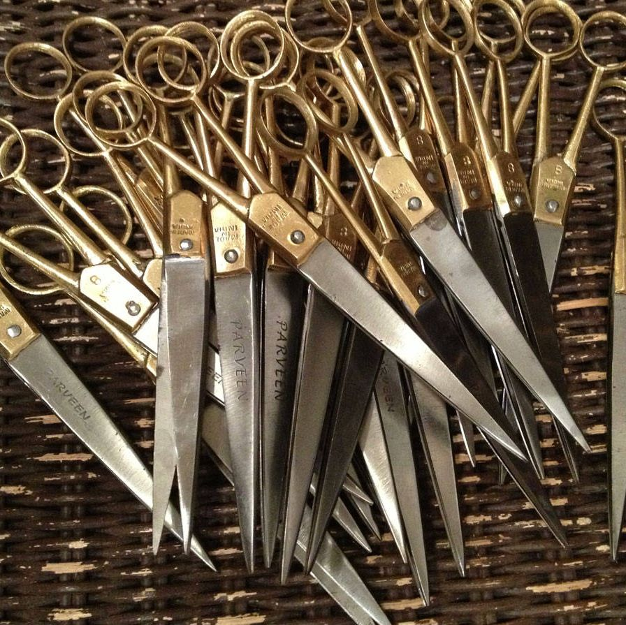 """""""We have carried these scissors for years, and they are still one of my very favorite things.  Made by a family in India for several generations, each pair is signed.  These are meant to last a lifetime if cared for properly.""""watsonkennedy.com"""