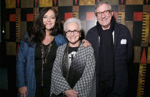 Angela Missoni, Rosita Missoni, and Bruno Ragazzi