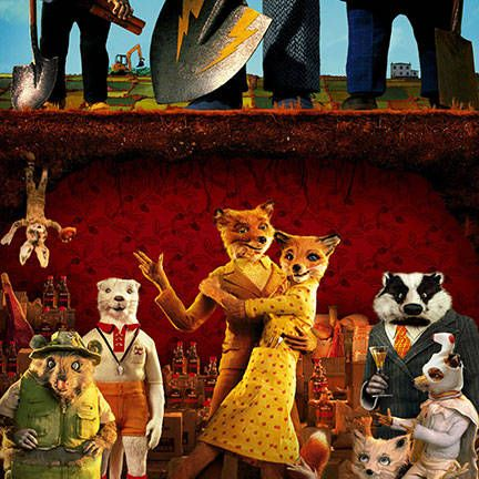 Anderson's only animated film is not lacking in aesthetic. Mr. Fox lives the fast life of a nighttime chicken robber and his wife Felicity is, well, a total fox.