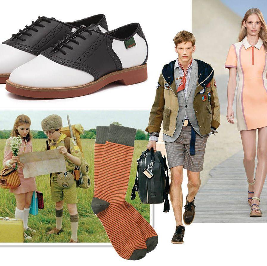 G.H.Bass & Co. Elaina Saddle shoes&#x3B; $88&#x3B; ghbass.comLouis Vuitton Patch Blouson $5,180&#x3B; Check 2-button Jacket $2,515&#x3B; Mixed Fabric Shorts $725&#x3B; www.louisvuitton.com Tommy Hilfiger Scuba Polo Dress&#x3B; $999&#x3B; 212-223-1824Richer Poorer Loafer Knee High Wool Sock&#x3B; $20&#x3B; www.richer-poorer.comRicher Poorer 'Dignitary' Sock&#x3B; $20&#x3B; www.richer-poorer.com