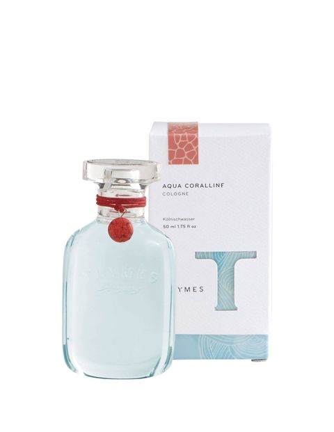 Bamboo leaves, water lily, and white cyclamen leave a fresh trail.thymes.com