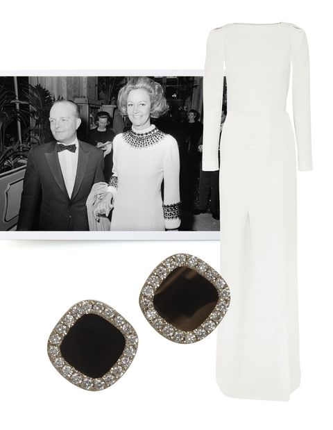 "<p>The dress code for tonight's New York City Ballet Spring Gala calls for black and white formal attire, which had us immediately thinking of Truman Capote's themed 1966 ball for inspiration. The ballet celebrates 50 years at Lincoln Center and tonight's celebration is sure to bring out society's finest. Click through for our favorite black and white pieces.</p> <p><em>Truman Capote and Katharine Graham at his now infamous Black & White Ball, held at the Plaza hotel in November, 1966.</em></p> <p> </p> <p>Roland Mouret wool-crepe gown, $4,610<a href=""http://www.net-a-porter.com/product/410880/Roland_Mouret/ella-wool-crepe-gown""> net-a-porter.com</a></p> <p>Monique Pean diamond & black agate earrings, $3,730 <a href=""http://www.barneys.com/on/demandware.store/Sites-BNY-Site/default/Product-Show?pid=00505009680388&cgid=womens-earrings&index=32"">barneys.com</a></p>"