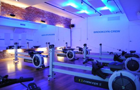 Thanks to its low impact and full-body benefits, indoor rowing is experiencing a vogue of sorts. Williamsburg's Brooklyn Crew, which is stationed next to the East River, offers lively 45-minute classes at two levels: novice, in which the first 15 minutes are spent learning the rhythm of the stroke, and a fast-paced workout for seasoned rowers dreaming of taking their midtown commutes onto the water. $38 per class, brooklyn-crew.com
