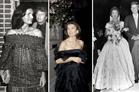 Jackie loved to show a little skin in a tasteful way by wearing off-the-shoulder tops and dresses.