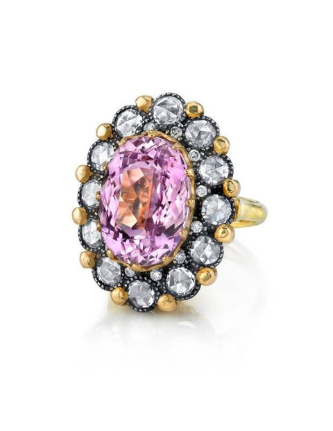 Arman Sarkisyan kunzite and diamond ring, ylang23.com
