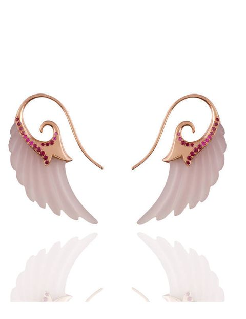 Noor Fares agate & pink sapphire earrings, exclusively at Moda Operandi, modaoperandi.com