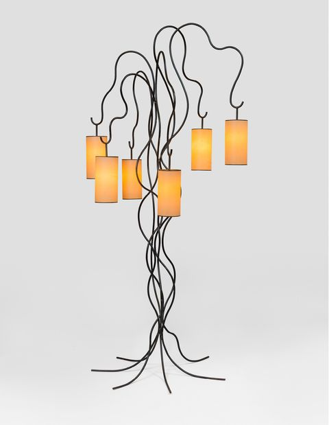 """Among the fair's vintage offerings is the """"Liane"""" floor lamp by Jean Royère, at Galerie Jacques Lacoste."""