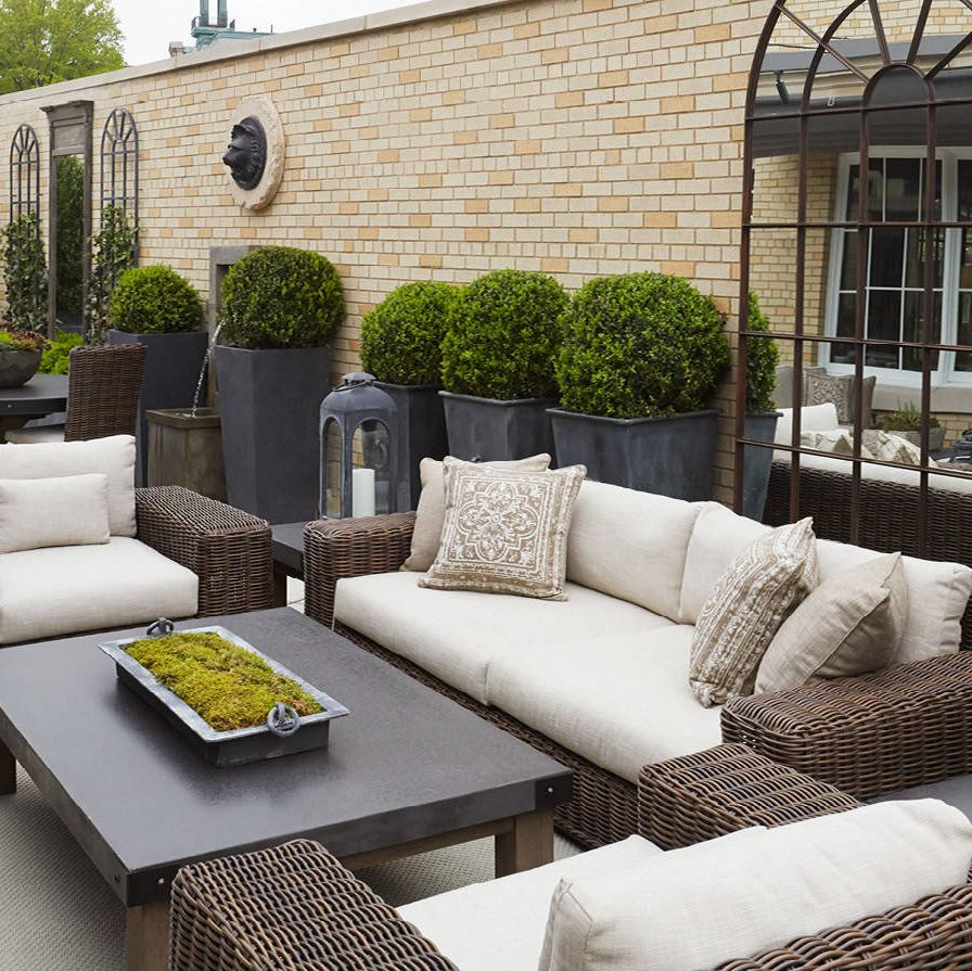 The rooftop of the Greenwich store features its outdoor furniture collection.