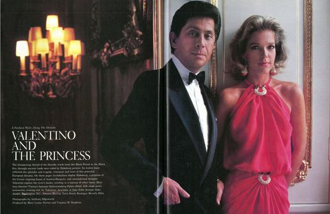 <p>The princess of Austria made a trip to the Danube with Valentino, in Valentino.</p>