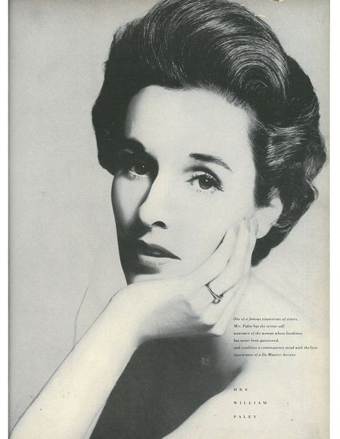 Babe Paley, wife of CBS founder William S. Paley, was an International Best Dressed Hall of Famer and one of Truman Capote's swans—until she dumped him after reading a reveaing chapter of his Answered Prayers. Babe and her two older sisters were like the Millers of the 40s—one married an Astor while the other first married FDR's son, then a Whitney.