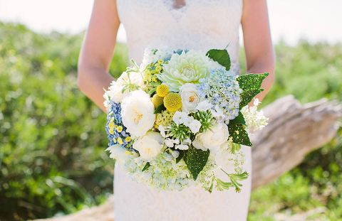 Petal, Yellow, Bouquet, Flower, Dress, Photograph, People in nature, Cut flowers, Wedding dress, Flowering plant,