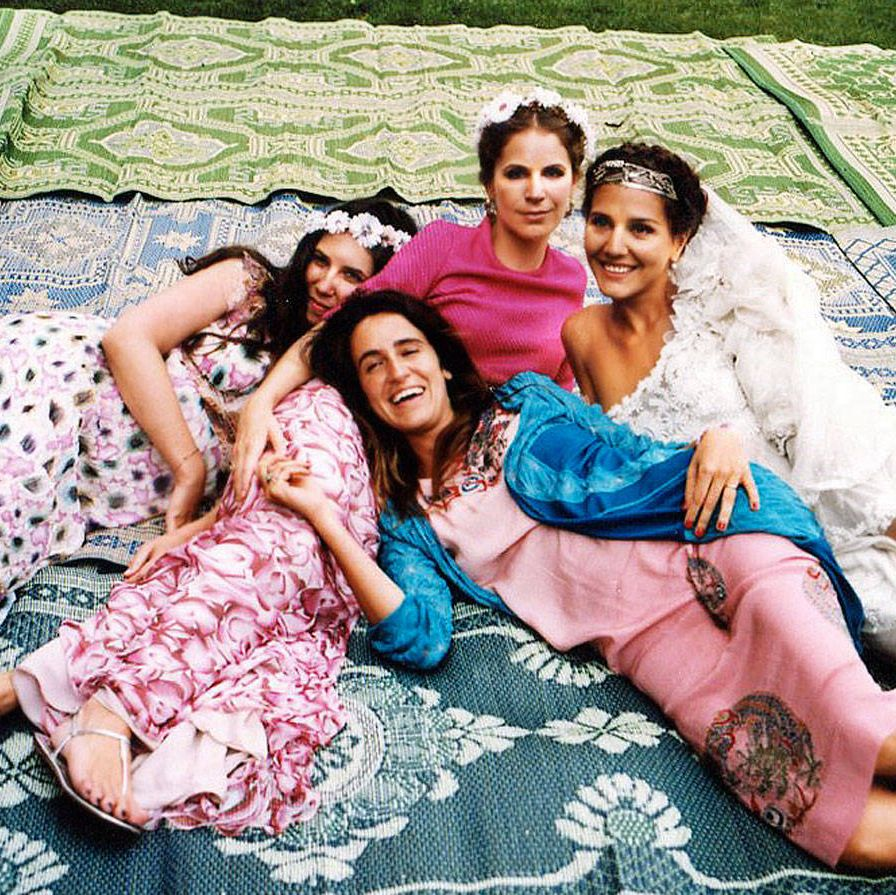 With Tatiana Santo Domingo, Coco Brandolini d'Adda, and Eugenie Niarchos.
