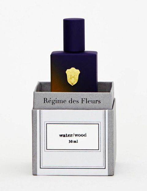 For a more nuanced infusion of palo santo, water/wood, a breezy scent that sees it melded with orris root, wild tobacco and crystallized amber, by L.A.-based niche perfumery Regime des Fleurs, is an elegant option. And the bottle is begging for prominent dressing table display.$155 for 30 ml, regimedesfleurs.com