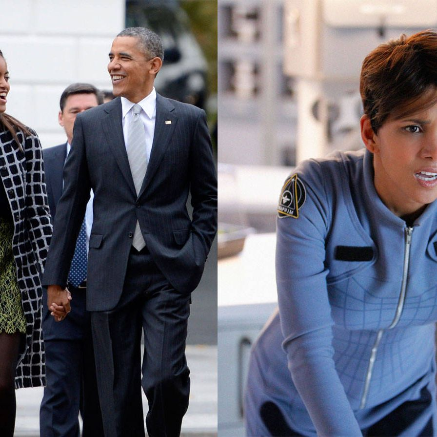 Malia, an aspiring film student, scored a day gig on the set of the upcoming CBS sci-fi series Extant, produced by Steven Spielberg and starring Halle Berry. The first daughter even got a taste of what it's like to be first AD—she reportedly slated a take.