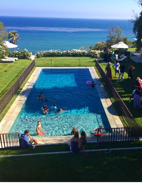 We love inviting over our friends for Saturday pool parties! We have so many friends from NYC and LA who are out in Malibu every weekend.