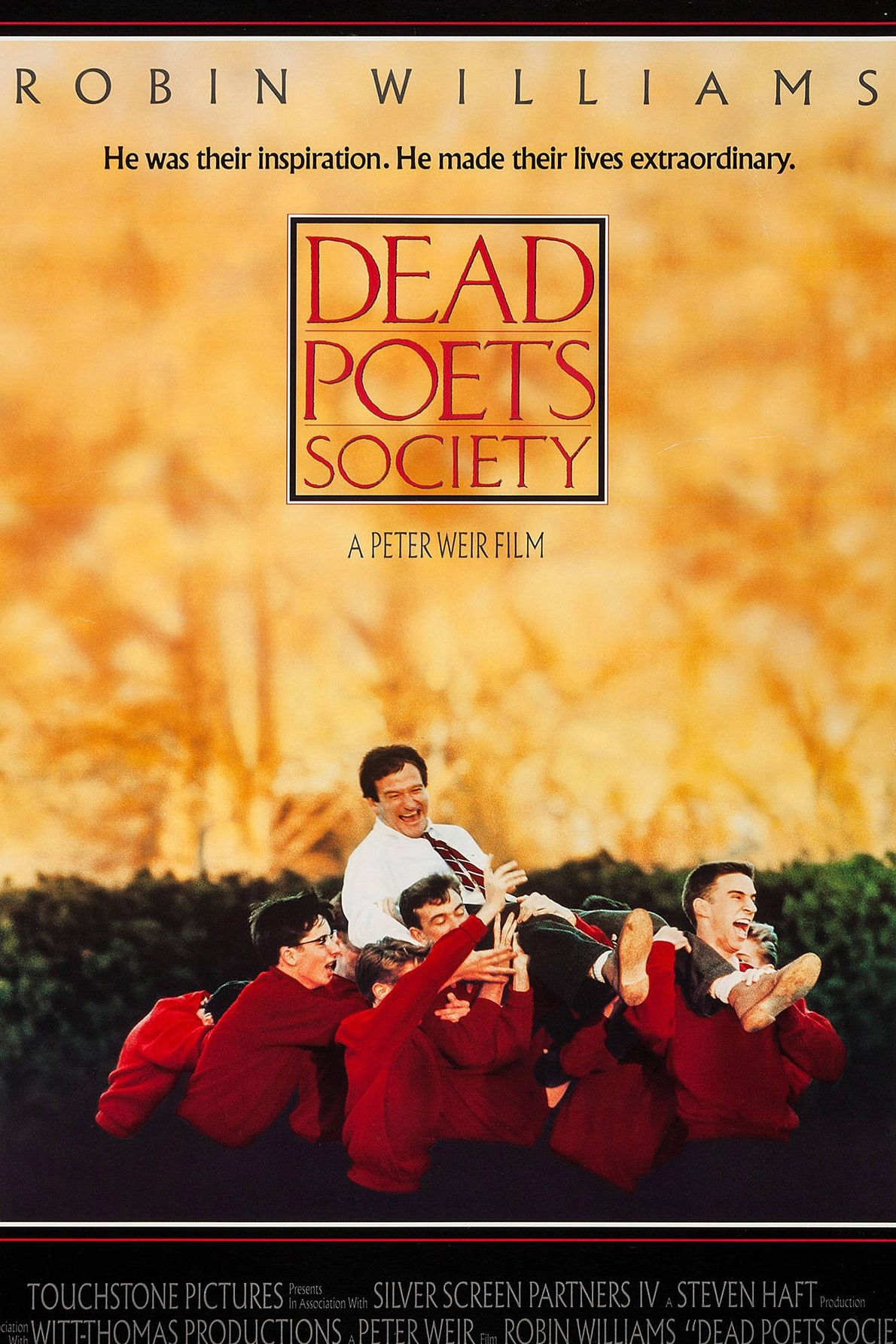 """Year: 1989Filmed at: St. Andrew's School in Middletown, Delaware.Director: Peter WeirReason it reminds us of fall: Back to school. Prep school days. Uniforms.Favorite Quote: """"No matter what anybody tells you, words and ideas can change the world."""" - John Keating"""