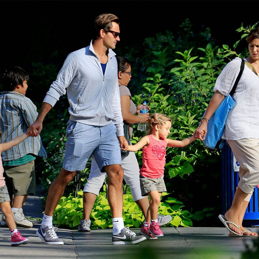 """<p class=""""MainBodyMain""""><strong>Happiness is a theme</strong> to which Federer returns repeatedly. In 2003, for instance, the same year he won the first of his 17 Grand Slam tournaments, his girlfriend (and future wife), fellow Swiss tennis player Mirka Vavrinec, had recently retired from the professional circuit following a string of injuries. Professional tennis players are nomads, on the road as much as 42 weeks a year. The young couple decided to travel together, with Vavrinec helping Federer organize his press commitments. (It was a job she soon quit, when she realized she would be """"saying no 95 percent of the time."""") Eleven years after they booked their first plane tickets together, and five years into their marriage, they have two sets of twins: five-year-old Myla Rose and Charlene Riva&#x3B; and Lenny and Leo, born three weeks before our interview. </p><p class=""""MainBodyMain"""">Federer, who is still wearing the dazed grin of a man at the head of a family that now runs to six people, remembers that the decision to travel with his girlfriend seemed like the only sensible one to make. """"She was missing me on the road, and I was missing her when she was home… It was an interesting time. Breakfast, lunch, and dinner together, 365 days of the year. And, yeah, we loved every moment of it and still do.""""</p><p class=""""MainBodyMain"""">The logistics, he admits, have become more complicated lately. When he, Mirka, the -children—and the assortment of coaches, assistants, and other helpers they need to keep their professional and family lives in order—move from one city to another, it is, he says, like a circus. He used to enjoy trying out a different hotel every time he hit a new city. Now he prefers to return to the same ones, so the Federer brood can stay in familiar rooms. (He thinks his kids are having an """"unbelievably cool"""" experience, but he is beginning to tire of the packing and unpacking. He says he sometimes packs suitcases for three months at a time.)</p><p class=""""M"""