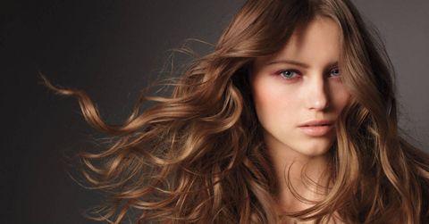 Nose, Mouth, Lip, Brown, Hairstyle, Chin, Eyebrow, Eyelash, Step cutting, Long hair,