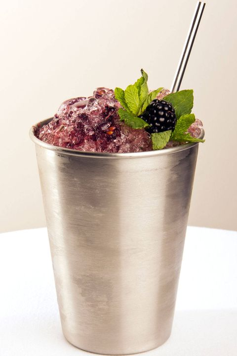 "Juleps may be most closely associated with the Kentucky Derby and as much as we love the traditional mint version (check out our guide to the Ultimate Mint Julep here), in the summer it's fun to try it with fruit added to the mix. Bay Kitchen Bar, in East Hampton, NY, serves a blackberry mint julep that sounds delicious. ""We make it with fresh, local blackberries and mint that showcases the flavors of Long Island while perfectly complimenting our menu,"" says Adam Miller, managing partner and beverage program director.Ingredients2 oz Bulleit Bourbon1/2 oz Chambord3/4 oz Fresh lime juice1/2 oz Demerara syrup5 muddled blackberries6 mint leavesInstructionsMix all ingredients in a shaker and pour over crushed ice. Garnish with a sprig of mint and a blackberry."