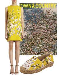 """<p>Dolce & Gabbana cherry blossom-print shift dress, <em><a href=""""http://barneys.com"""">barneys.com</a></em><em></em></p><p><em></em>Dolce & Gabbana cherry blossom espadrilles, <em><a href=""""http://barneys.com"""">barneys.com</a></em></p>"""