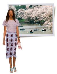 """<p>Burberry Prorsum Spring/Summer '14 tee, skirt & clutch, <em><a href=""""http://burberry.com"""">burberry.com</a></em></p>"""