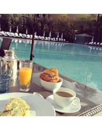One of the best parts of staying at La Mamounia was the delicious breakfast buffet served every morning by the pool. There were exotic fruits I had never heard of, delicious sesame pastries, and the freshest orange juice ever.