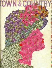 <p>Then art director of <em>T&C</em>, Louis-Marie Eude, created a collaged profile of a woman from hundreds of flower stickers.</p>