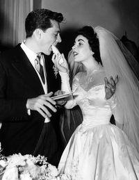 Elizabeth Taylor in a dress by costume designer Helen Rose, 1950.via Harpersbazaar.com