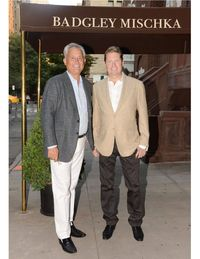 The unseasonably hot temperatures last night did not dampen the celebratory spirits of well wishers as Mark Badgley and James Mischka opened their first New York City boutique, Badgley Mischka, on 24 East 64th Street. With fashion week in full swing, the talented duo, whose designs are a perennial favorite of celebrities and socials, drew a lively crowd including Kate Mara, Cornelia Guest and CeCe Cord. Guests shopped, caught up with friends, and cooled off with some bubbly within the walls of the beautifully designed townhouse, before perusing the designers' glamorous couture, ready-to-wear, bridal and accessories collections. It's a one-stop shop for well-heeled ladies looking for baubles or ballgowns.