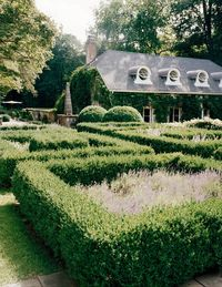 """""""The guesthouse was a falling-down garage with a tree growing through it when I first discovered it,"""" interior designer Stephen Sills says of the four-bedroom, 2,500-square-foot outbuilding behind the parterre at Hi-Low Farm, his 22-acre estate in Bedford, New York. The main house, a 1920s white shingled colonial, was once dubbed """"the chicest house in America"""" by Karl Lagerfeld. Sills bought it 25 years ago, when the entire property, then in bank foreclosure, was dilapidated and in disrepair. """"There was an instant magical quality about it,"""" Sills says, the cadence of his deep voice slow and melodic, with certain words punctuated by his Oklahoma accent. """"I knew there was something special going on here."""" And so Hi-Low Farm, with its fertile bowl-shaped land, became a lifelong reclamation project for the venerated designer, now 62, who counts Vera Wang, Lauren duPont, Anna Wintour, and the Rockefeller family among an impressive bold-faced client list.The Sills aesthetic is simple and exacting, as evidenced here and in a new book, Stephen Sills: Decoration (out this month from Rizzoli)—a refined palette matched with a visually arresting collection of furniture and objects. Pieces from different countries, centuries, even civilizations conjoin in a singular symphonic vision of contemporary design. """"Well, why can't you have all of it?"""" Sills asks. """"Why can't you have the modernity of great Italian design with great 18th-century furniture? That is design for our time now."""" It is this aesthetic that propelled Sills to the top of his field, and perhaps nowhere is this vision more clearly synthesized and fulfilled than here, at this weekend refuge, which Sills calls his """"laboratory.""""The guesthouse, with its porthole windows inspired by David Hicks's house in the South of France, has been a favorite focus of Sills's design tinkering. (Illustrious guests have included Tina Turner and André Leon Talley.) It is now in its second (or third) incarnation&#x3B; Sills is currently jo"""