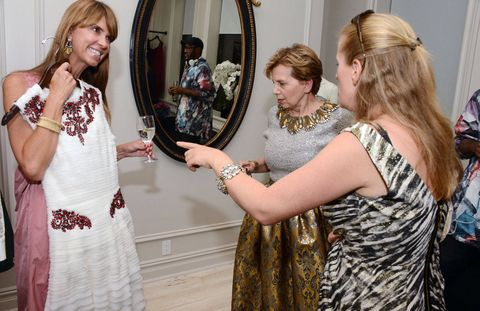 Chesie Breen with Adrienne Arsht and Nathalie Kaplan.