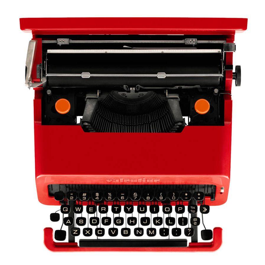 A a 1969 Olivetti typewriter.