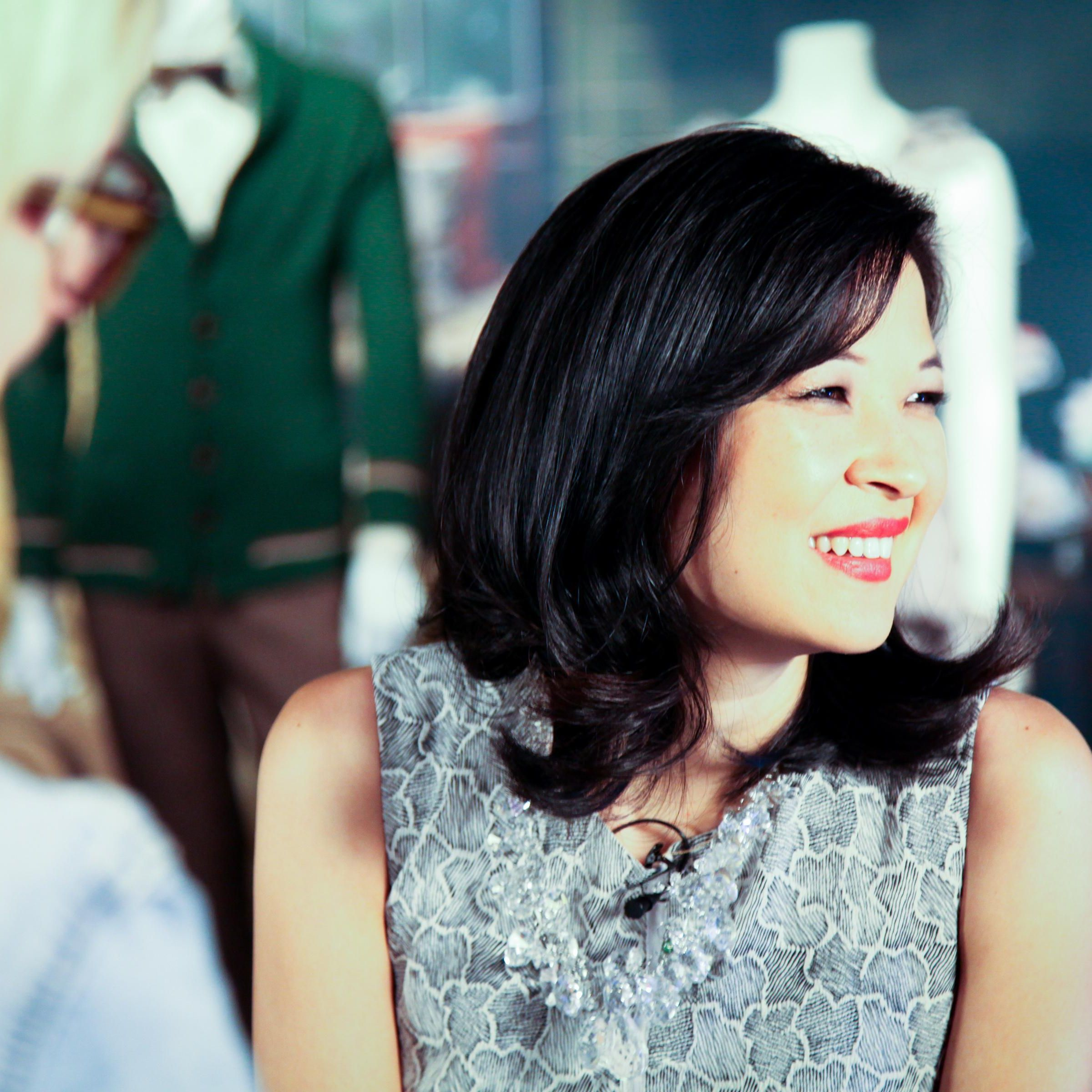 SuChin Pak, the on-air correspondent for Daily Candy, picks a cinematic look that goes well with a hidden mic.