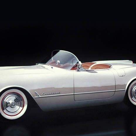 Chevrolet keeps its own squadron of Vettes. They're all white, one Chevy spokesperson suggested, perhaps because that color allows you to project your own fantasies. The first version was designed by Harley Earl, just before he got into an escalating tail-fin war with Virgil Exner. You can spot the proto-fins in this early effort.Out on the road, this is an antique—which is not at all unpleasant. The big steering wheel, from an era before power steering, has the spiny bumps that fit the fingers and the beautiful scalloped windshield sets off the driver and passenger (it would be a shame to drive this alone) in a most cinematic fashion. Speed in this model feels entirely incidental—this is the perfect car for going 30 with the top down along a crowded beach.