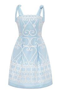 Vivetta Jasmina Embroidered Taffeta Dress, $525&#x3B; modaoperandi.com